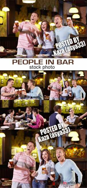 People in bar & beer