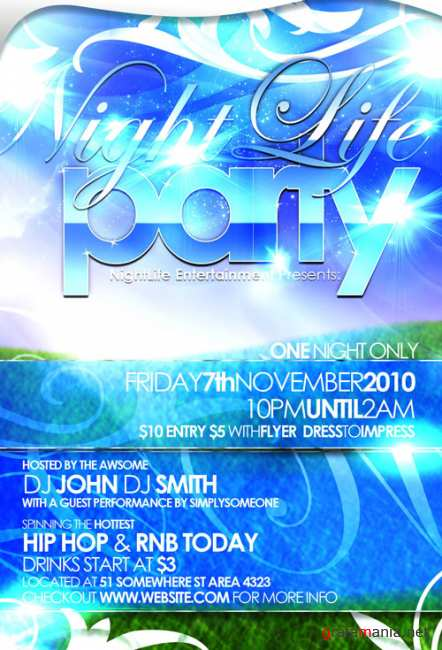 Flyer party template
