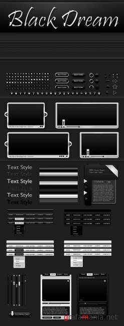 Black Professional Web Kit