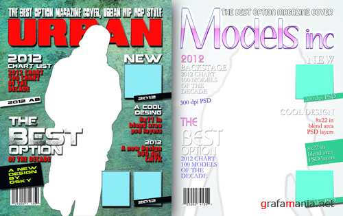 Magazine cover style