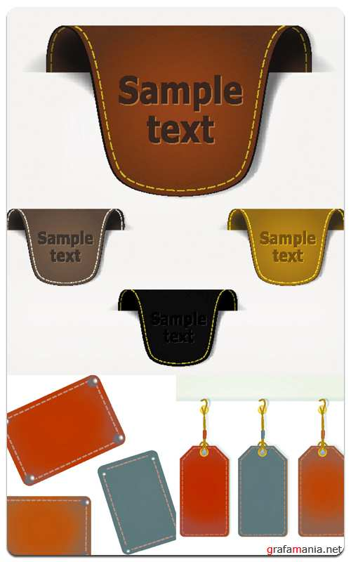 Leather Labels - Vector Stock