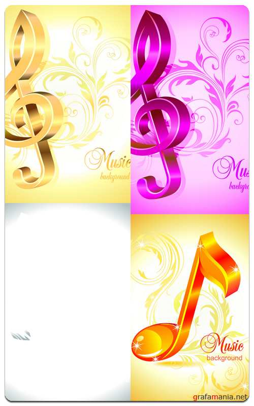Musical Backgrounds - Vector Stock