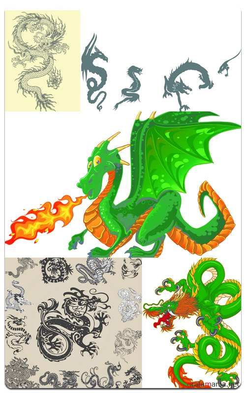 Dragons - Vector Stock