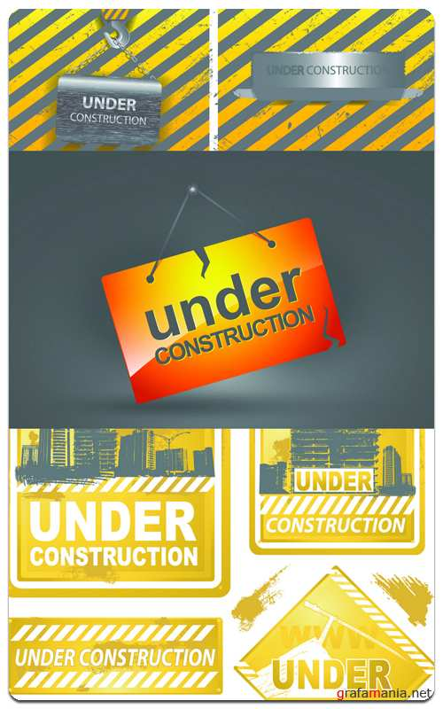 Under Construction - Vector Stock