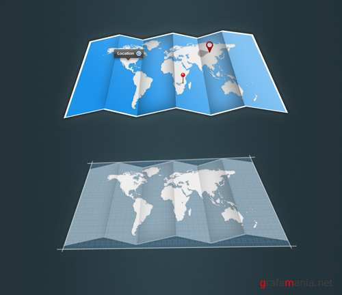 GraphicRiver - Fold-Up Map