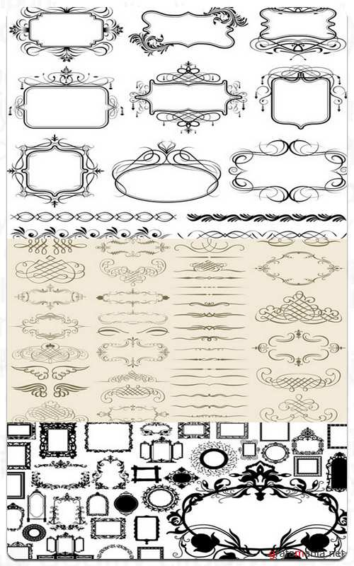 Frames and Elements of Design - Vector Stock