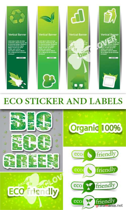 Eco sticker and labels