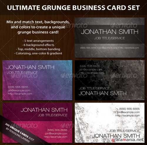 Ultimate Grunge Business Card Set
