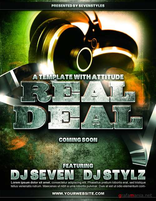 Real Deal Poster Flyer Template