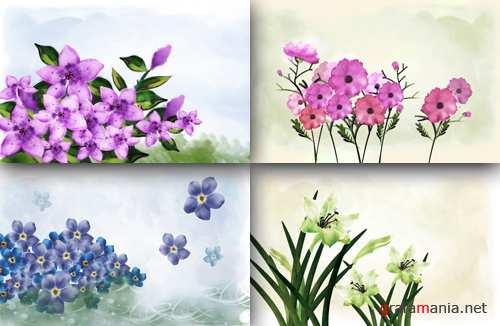 Flower backgrounds pack 6