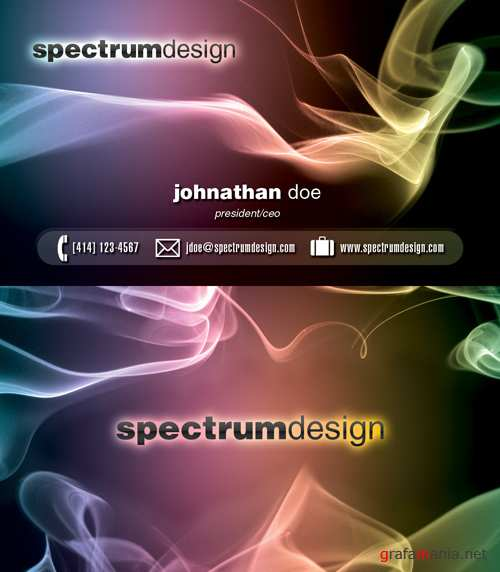 Spectrum design Business Card