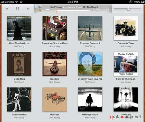 iOS 5 iPad Music App Free PSD