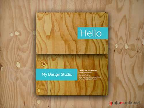 Business card plywood style