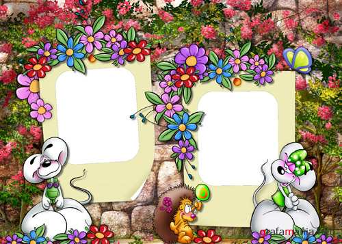 Photo Frame - Flower Garden
