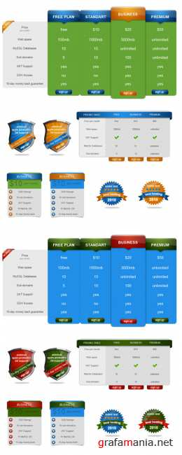 Pricing Table high res