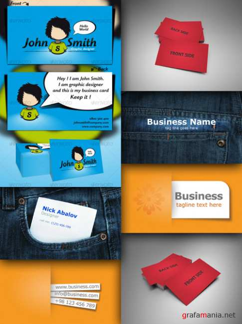 A collection of business cards # 1