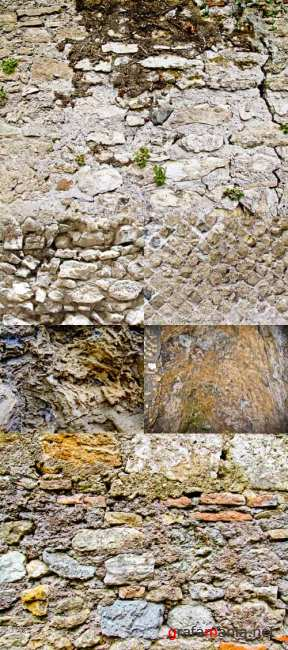 A set of texture stone wall