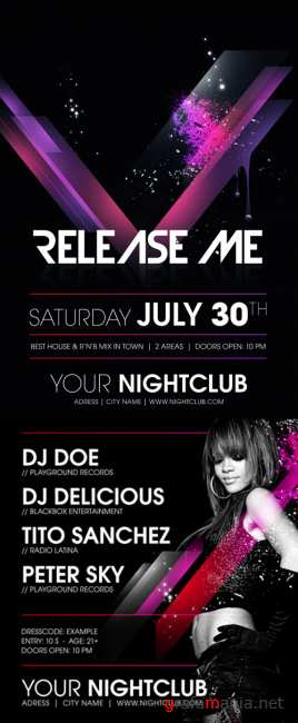 River Release Me Party Flyer