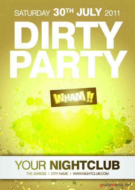 River Dirty Party Flyer