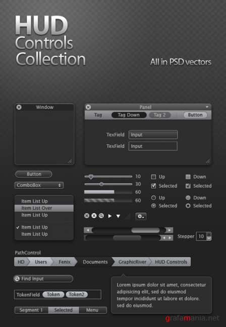 Hud controls collection