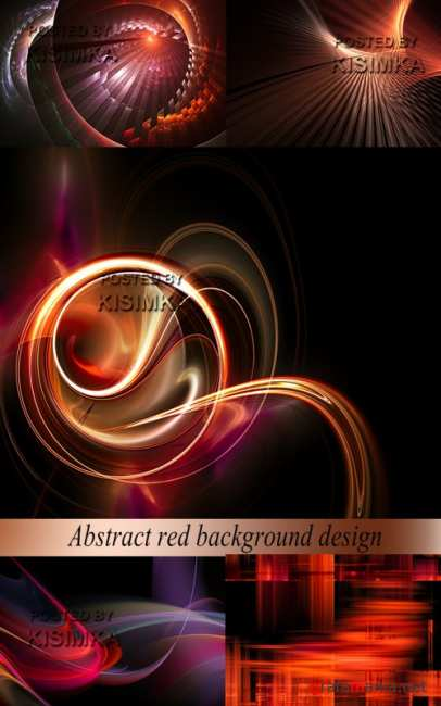 Stock Photo: Abstract red background design