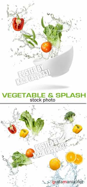 Vegetable & water splash
