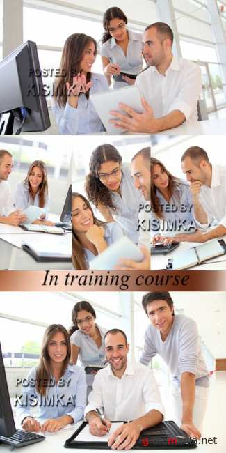Stock Photo: In training course