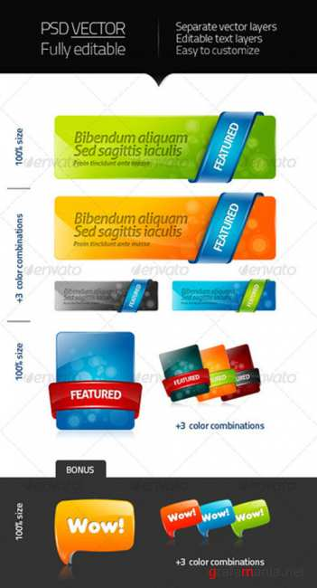 GraphicRiver - Seextwood - web elements 2