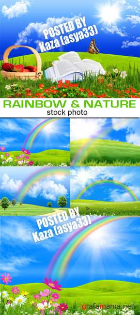 Rainbow & green nature