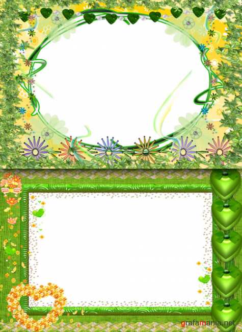 Photo Frame - Green Flowers