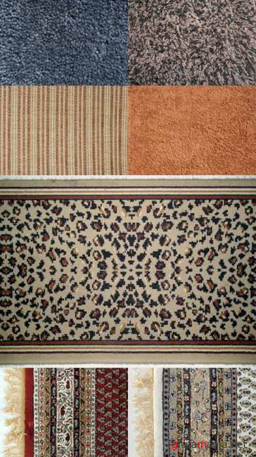 A set of carpet textures