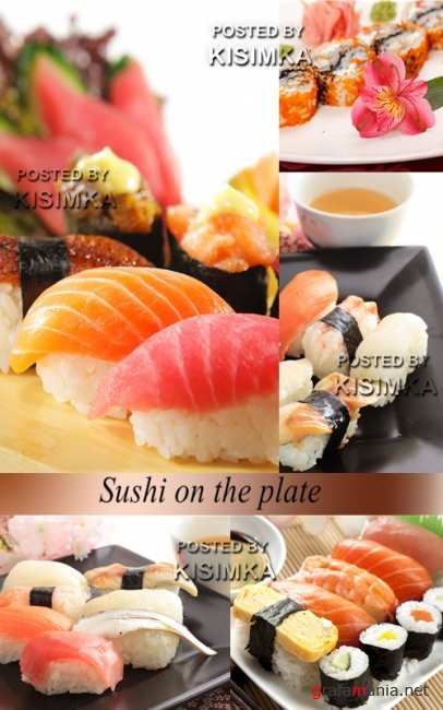 Stock Photo: Sushi on the plate 2