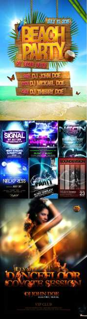 Collection PSD flyers 2011 pack # 1