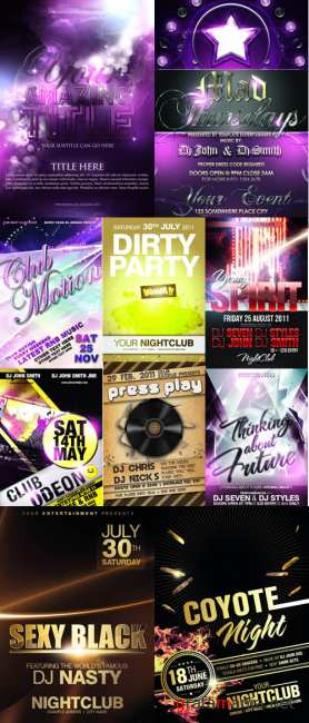 Collection PSD flyers 2011 pack # 2