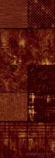 A set of rusty textures