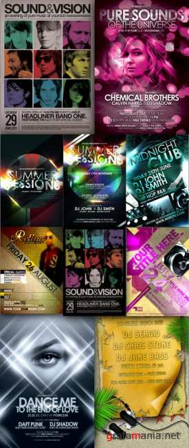 Collection PSD flyers 2011 pack # 3