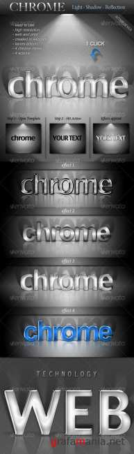 Chrome Light-Shadow-Reflection Actions