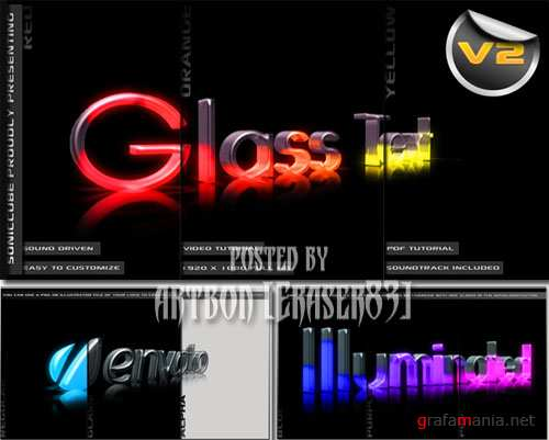 3D Crystal Glass Text - Audio Driven Illuminated - Project for After Effects (Videohive)