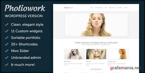 ThemeForest Pholiowork - Wordpress Theme
