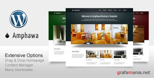 ThemeForest Amphawa for Business Corporate Portfolio