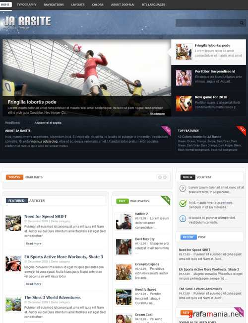 JoomlaArt Rasite v1.2.0 for J1.7 - RETAIL