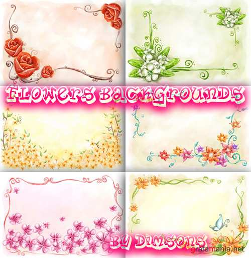 Flower backgrounds pack 30
