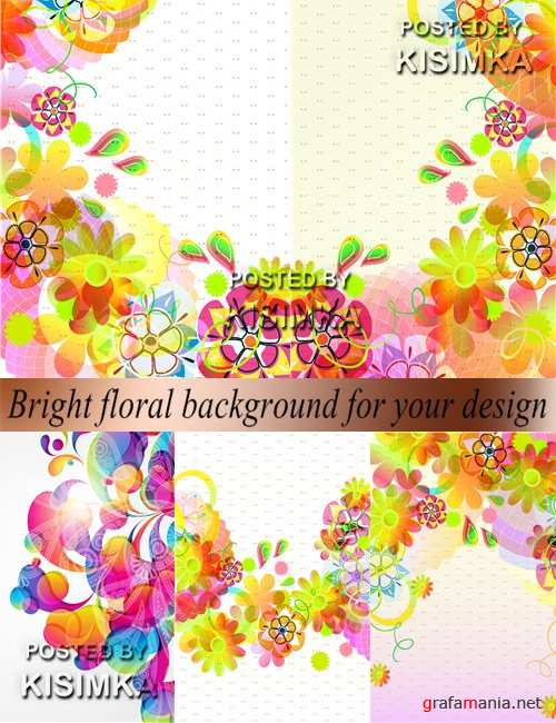 Bright floral background for your design