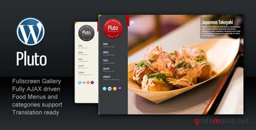 ThemeForest Pluto Fullscreen Cafe and Restaurant