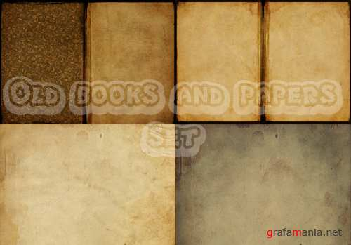 Old Books and Papers Set