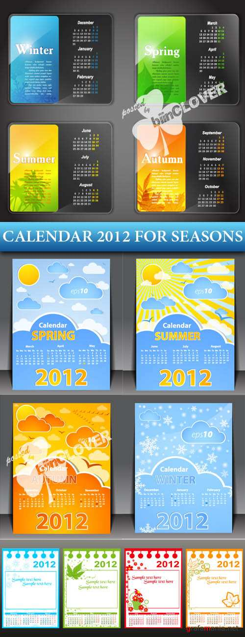 Calendar 2012 four seasons