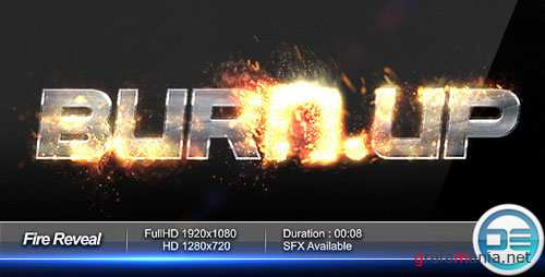 Fire Reveal - Project for After Effects (Videohive)