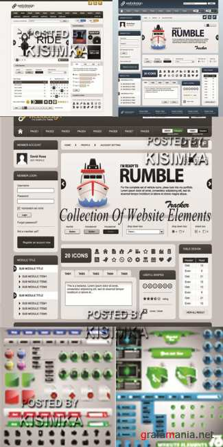 Stock: Collection Of Website Elements