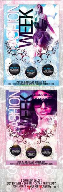 GraphicRiver - Fashion Week Flyer