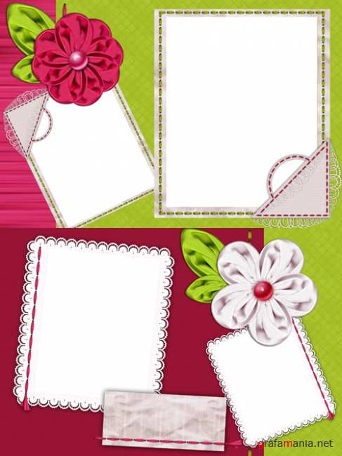 Photo Frame - Silk flowers